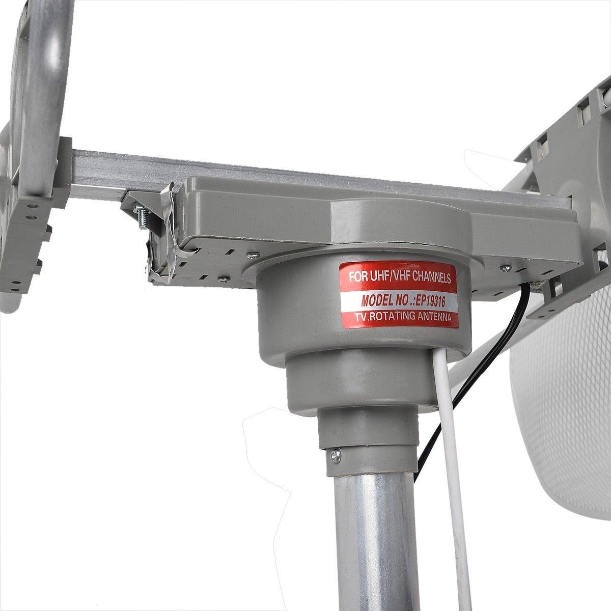 Hdtv digital outdoor antenna tv 360 uhf vhf fm 150 miles - Antena tv exterior ...
