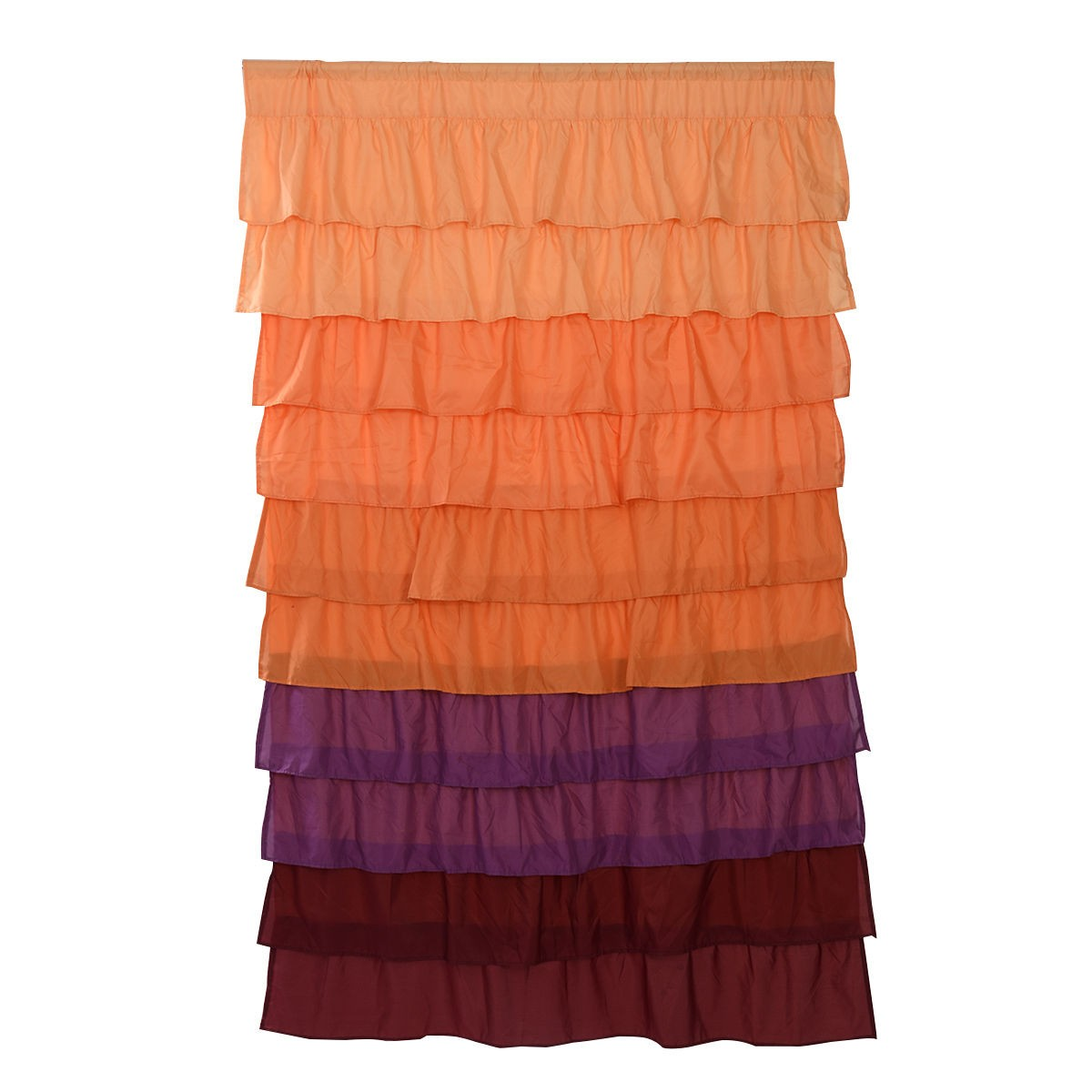 Ruffled curtain panel