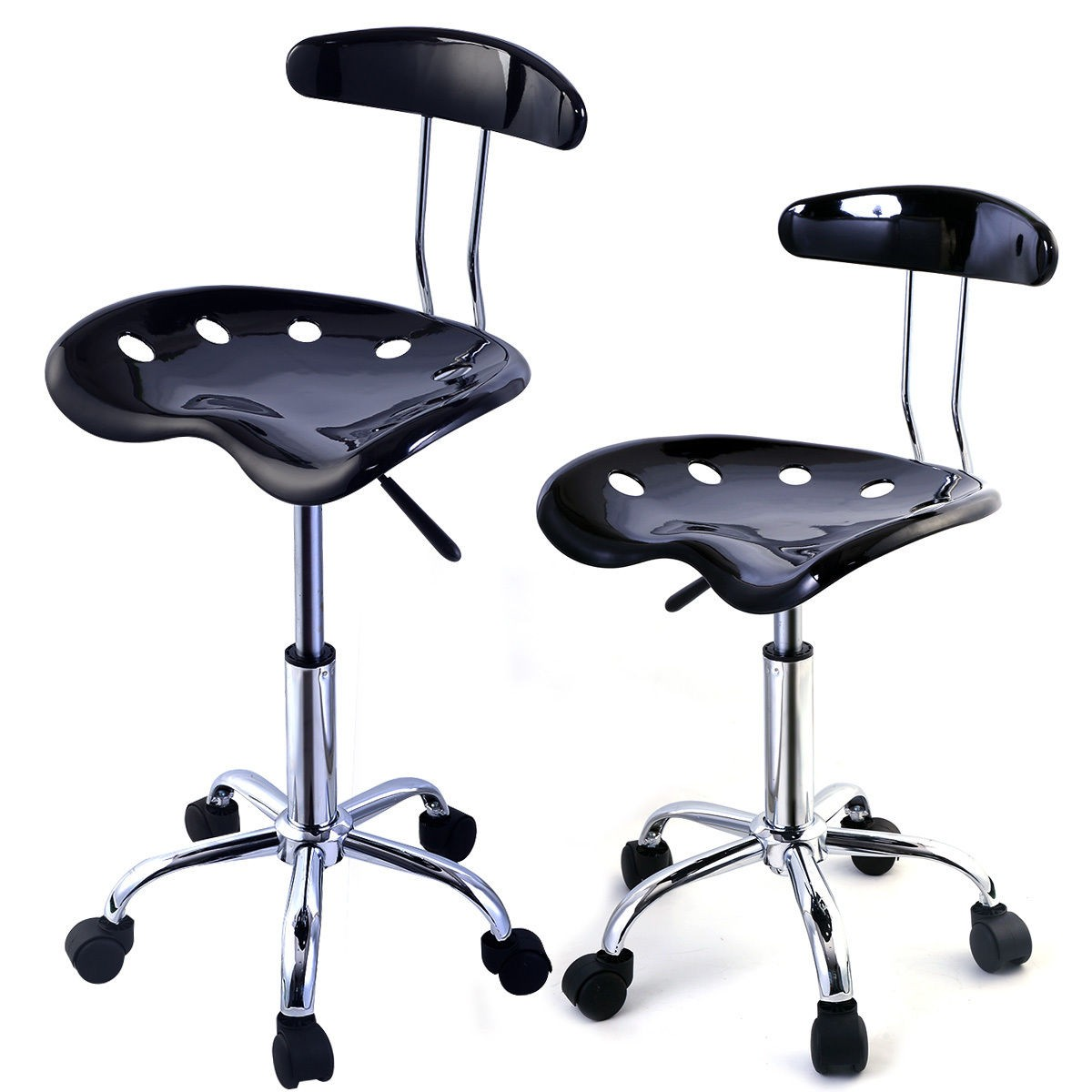 2PC ABS Tractor Seat Adjustable Bar Stools Swivel Chrome
