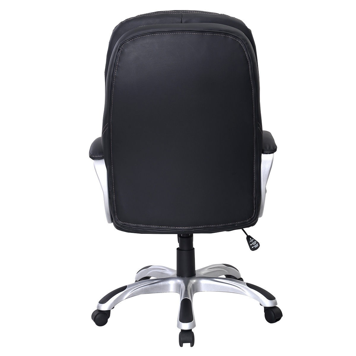 Black High Back PU Leather Office Chair Executive Ergonomic Computer Desk Task