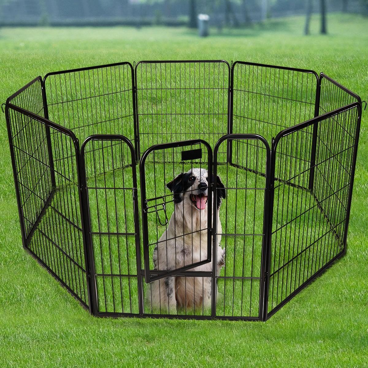 heavy duty pet playpen dog exercise pen cat fence san leandr