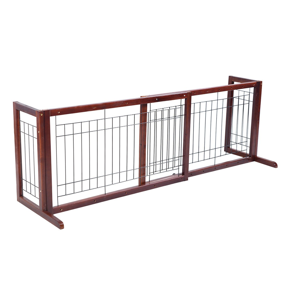 Adjustable Indoor Solid Wood Construction Pet Fence Gate