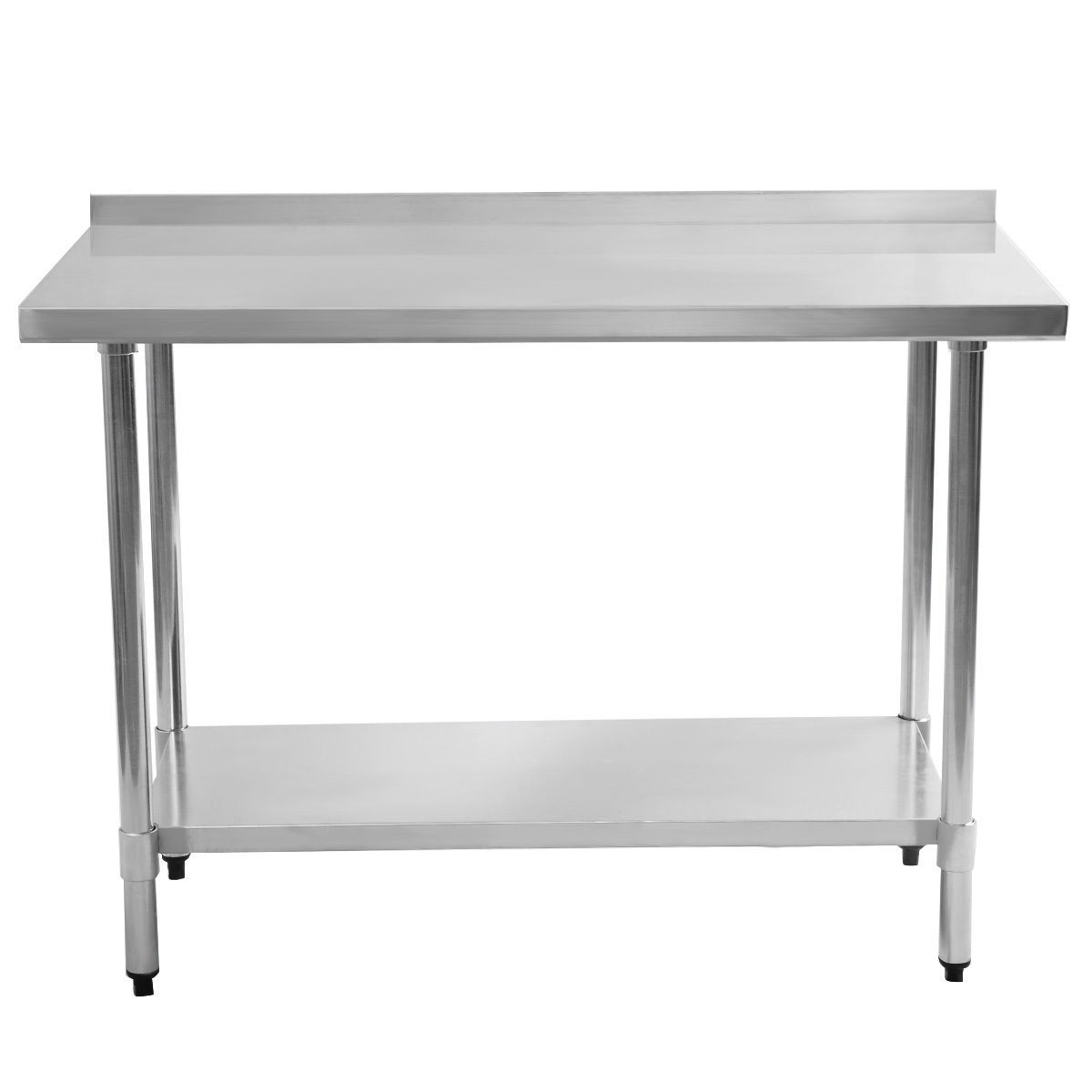 24 x 48 stainless steel work prep table with backsplash