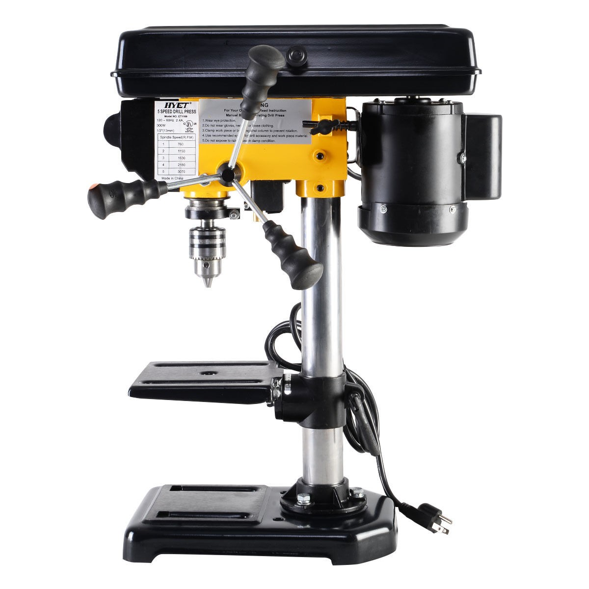 300w Electric 5 Speed 760 3070 Rpm Mini Drill Press Bench