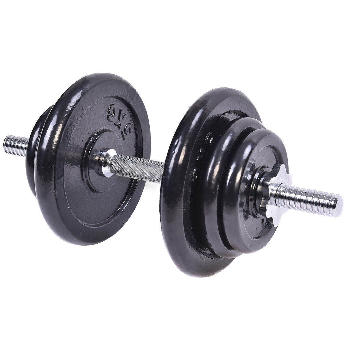 Adjustable Workout Weights: Adjustable 44 LB Weight Dumbbell Set Cap Gym Barbell Body