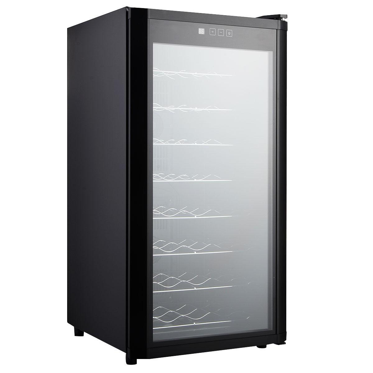 32 bottles cooler wine fridge cellar storage holder chiller bar rack cabinet ebay. Black Bedroom Furniture Sets. Home Design Ideas