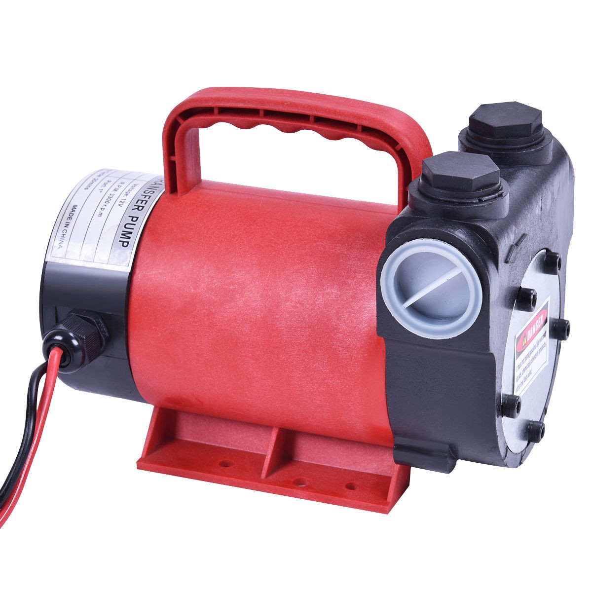 Portable Gas Pump : Portable v gpm electric diesel oil fuel transfer