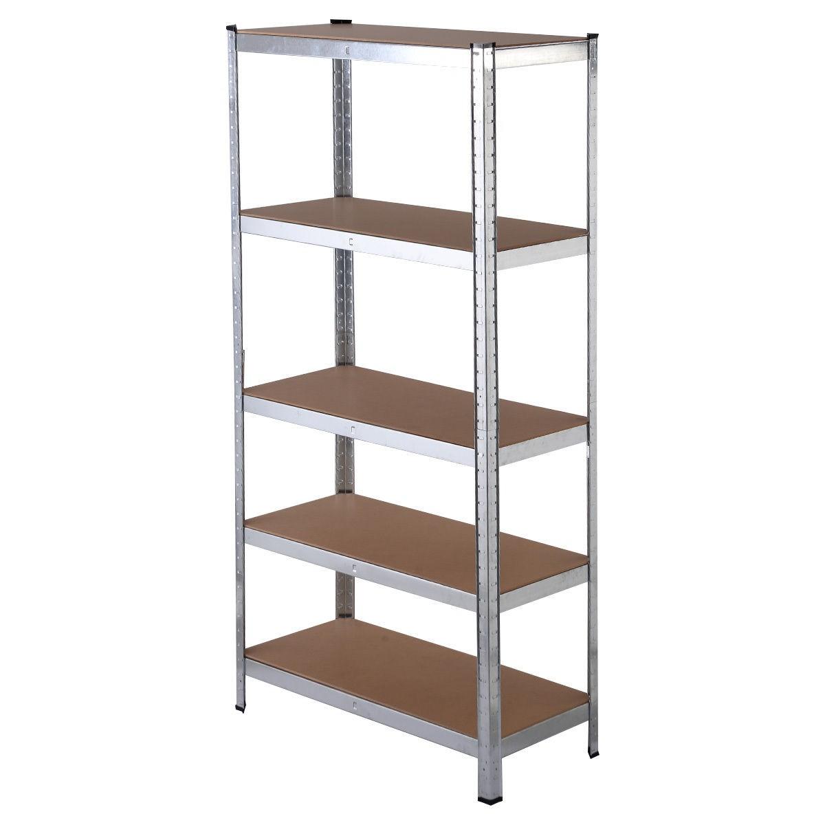 heavy duty storage rack 5 level adjustable shelves garage. Black Bedroom Furniture Sets. Home Design Ideas