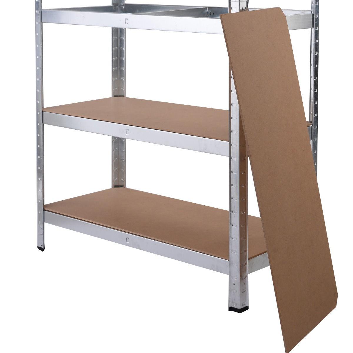 5 Levels Heavy Duty Shelf Garage Steel Metal Storage Rack