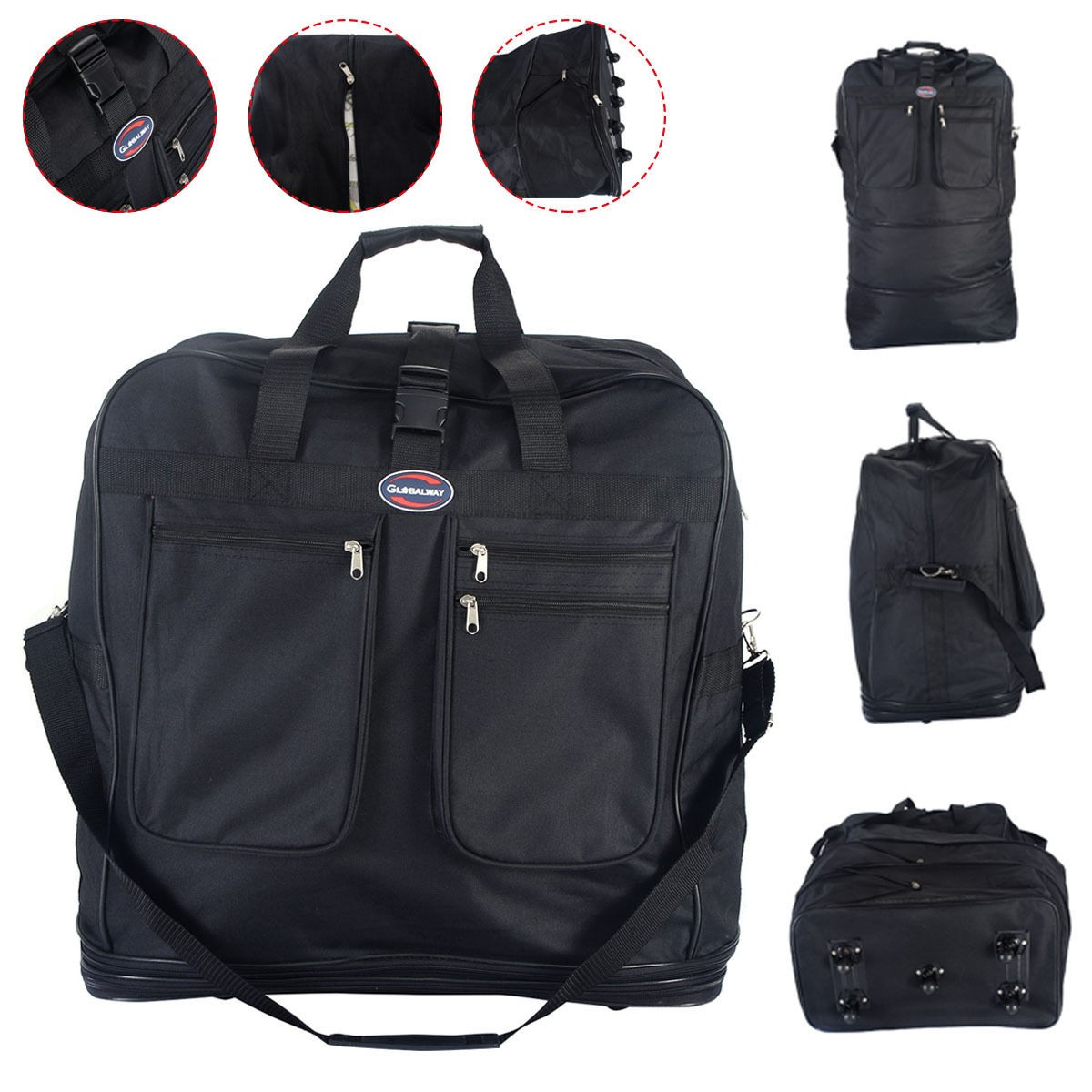 new 40 rolling wheeled duffel bag spinner portable suitcase spinning luggage ebay. Black Bedroom Furniture Sets. Home Design Ideas