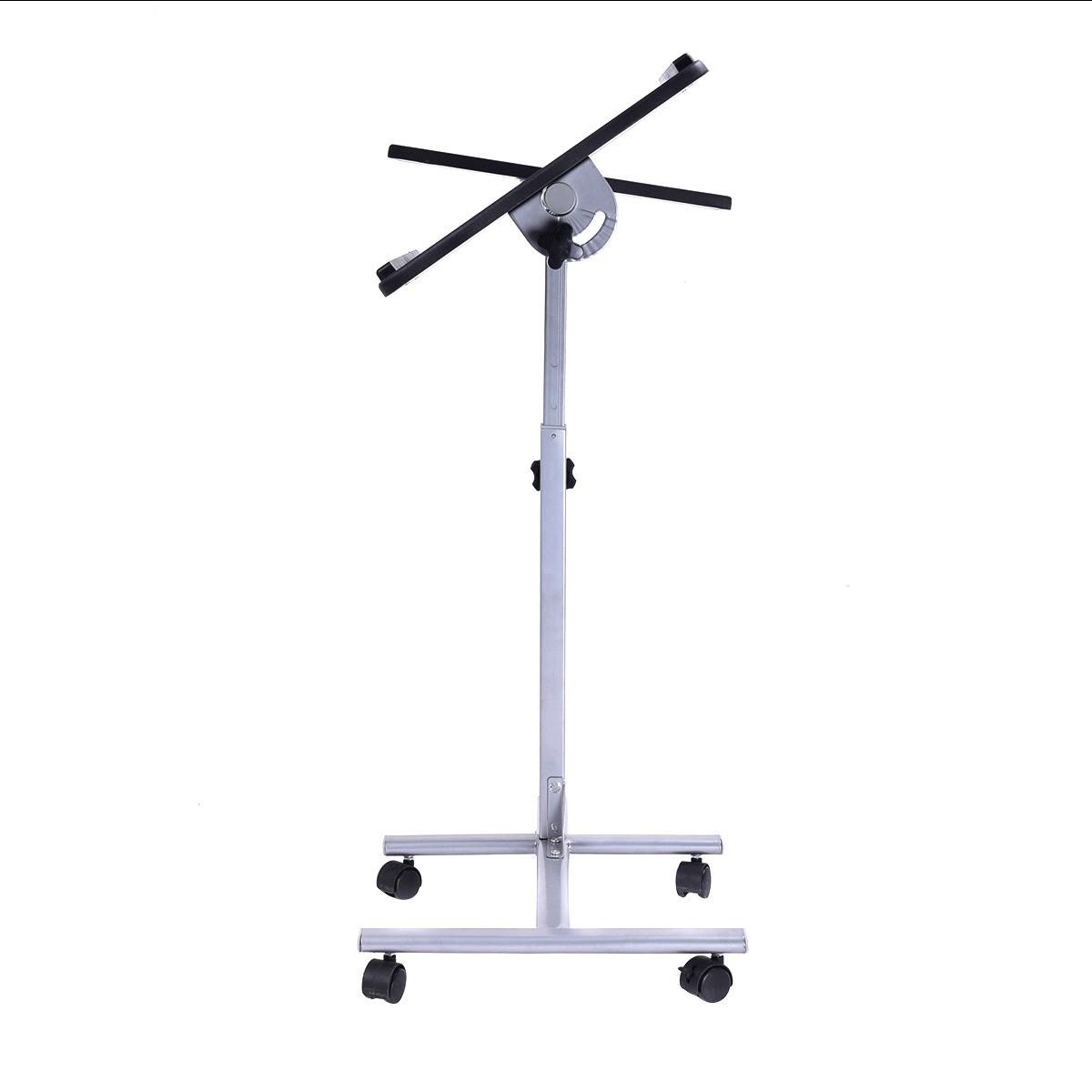 laptop notebook desk stand angle height adjustable rolling over sofa bed table ebay. Black Bedroom Furniture Sets. Home Design Ideas
