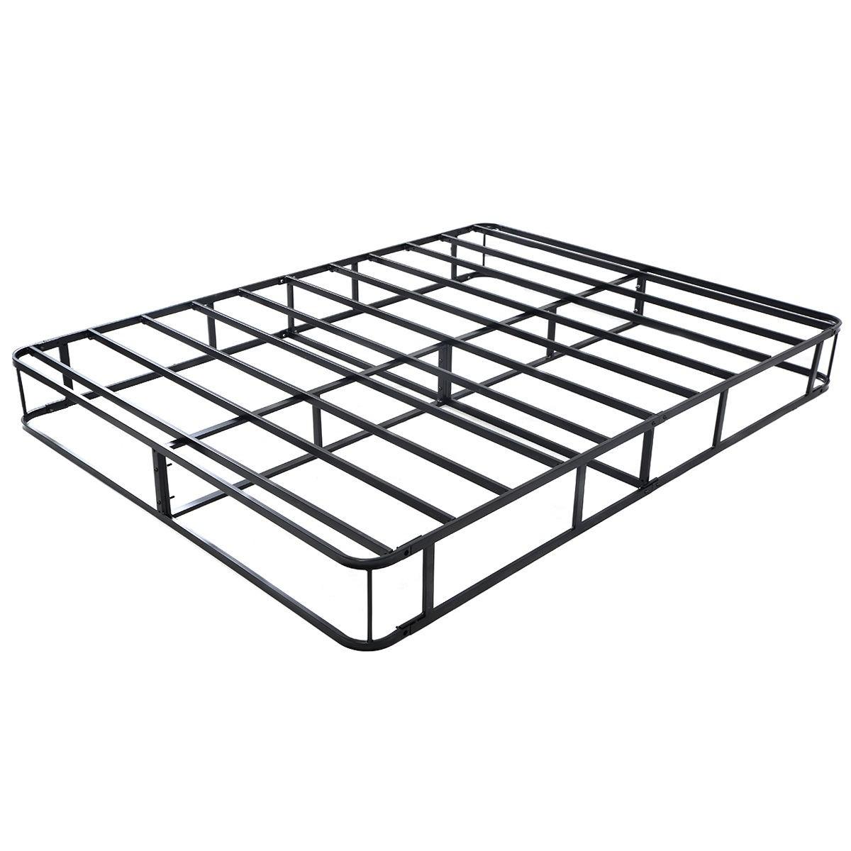 Heavy Duty A Frame : Black modern heavy duty metal full size bed frame mattress