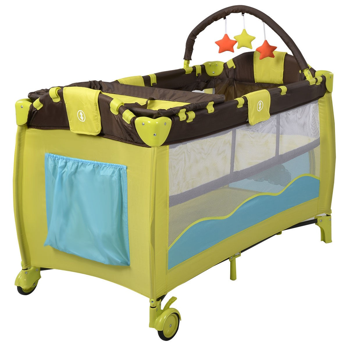 Us Baby Crib Playpen Playard Pack Travel Infant Bassinet