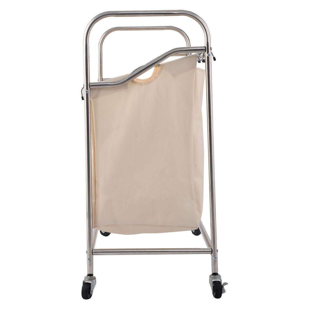 4 Bag Laundry Rolling Cart Basket Hamper Sorter Storage