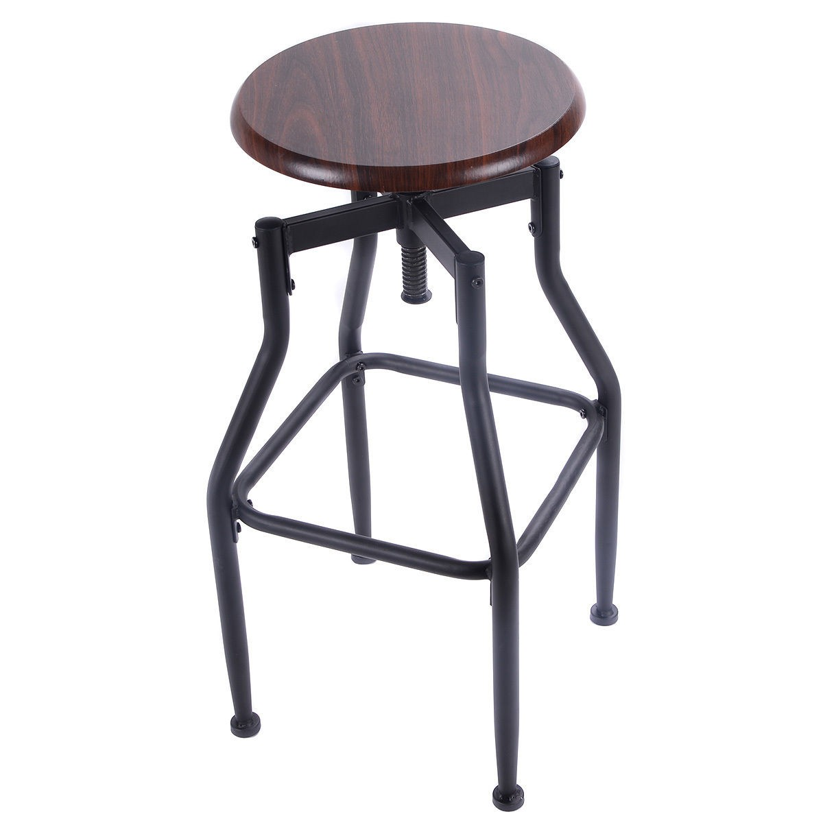 Vintage Bar Stool Wood Metal Design Top Height Adjustable  : HW52162 from www.ebay.com size 1200 x 1200 jpeg 92kB