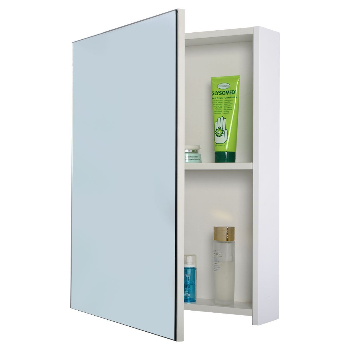 3 mirror door 36 20 wide wall mount mirrored bathroom for Bathroom cabinets long