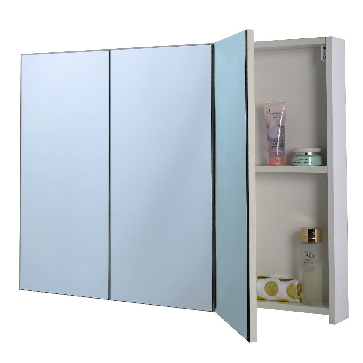 3 mirror door 36 20 wide wall mount mirrored bathroom - Large medicine cabinet mirror bathroom ...