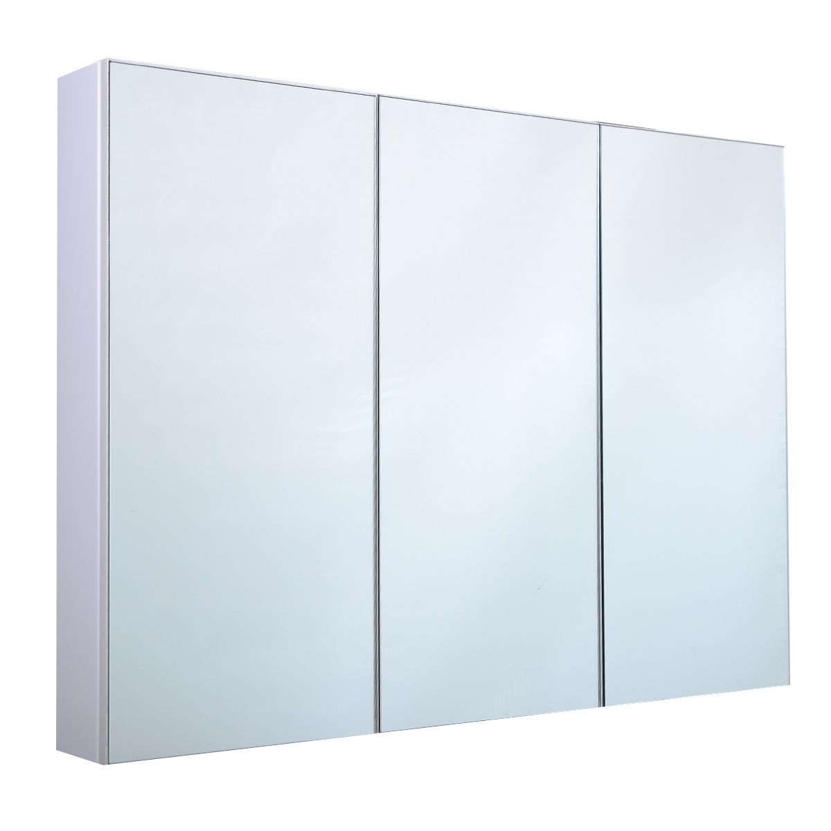 3 mirror door 36 20 wide wall mount mirrored bathroom medicine cabinet storage ebay. Black Bedroom Furniture Sets. Home Design Ideas