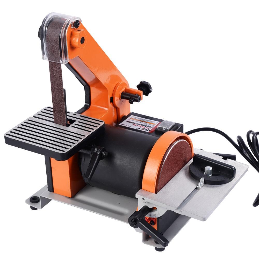 1 X30 Belt 5 Disc Sander Bench Top Woodworking Sanding Wood Metal 1 3 Hp Ebay