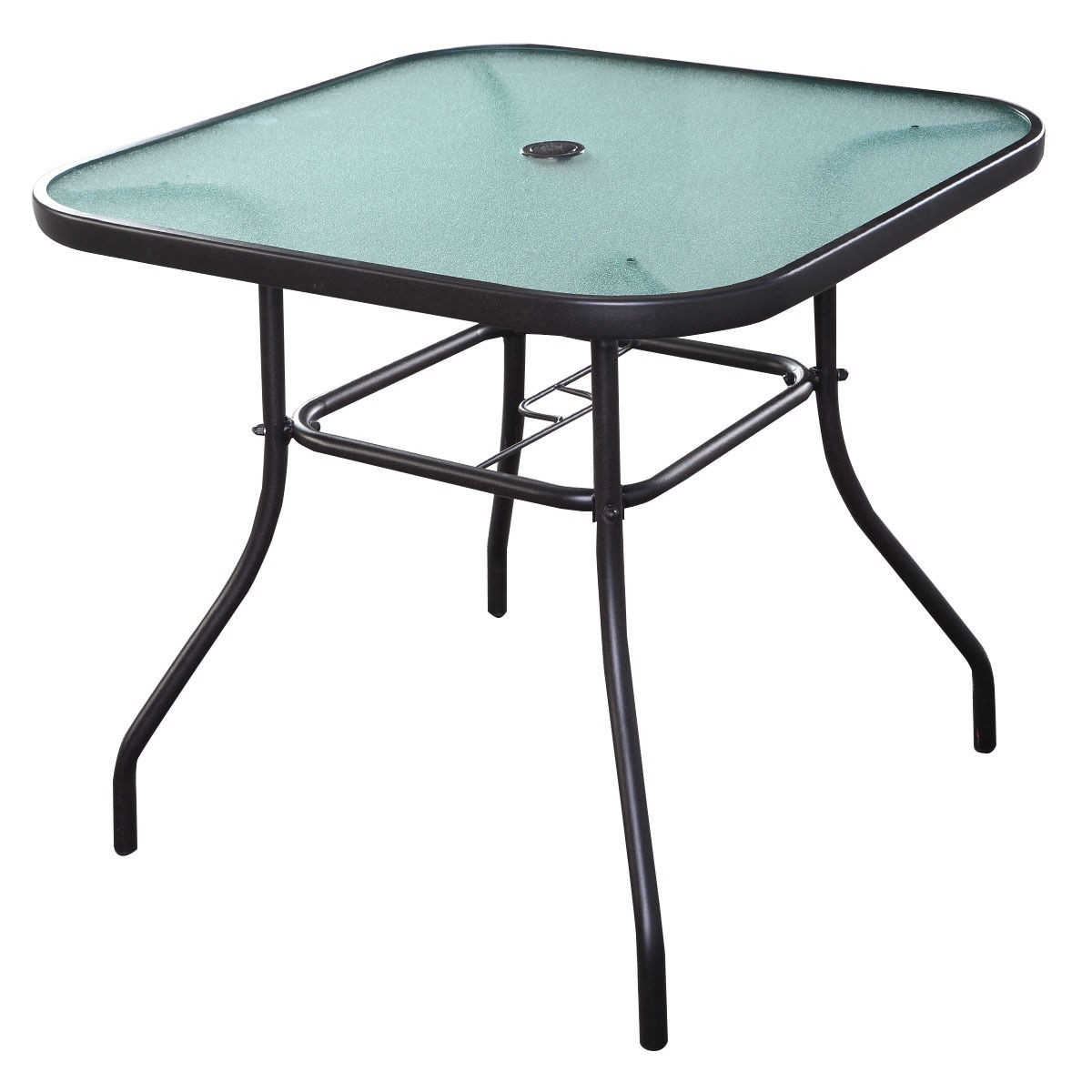 32 1 2 patio square bar dining table glass deck garden pool outdoor furniture ebay. Black Bedroom Furniture Sets. Home Design Ideas
