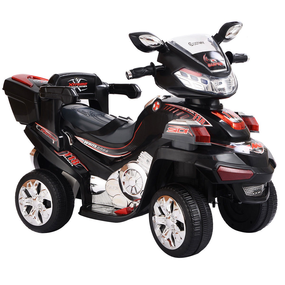 4 Wheel Kids Ride On Motorcycle 6V Battery Powered