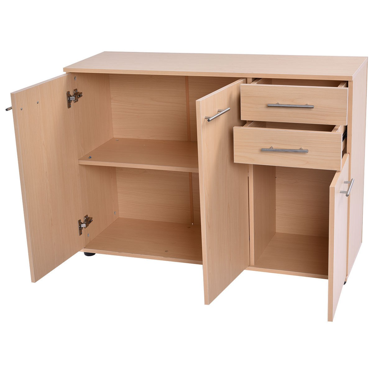 US Office Storage Cabinet Cupboard Organizer 3 Doors double Shelves Furniture | eBay
