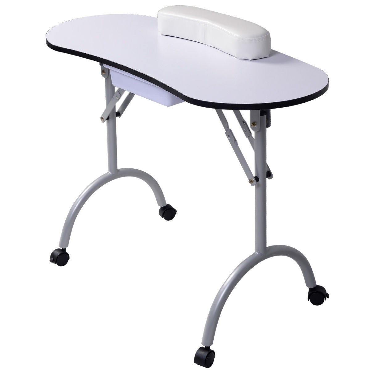 Portable manicure nail table station desk spa beauty salon for Fold up nail table