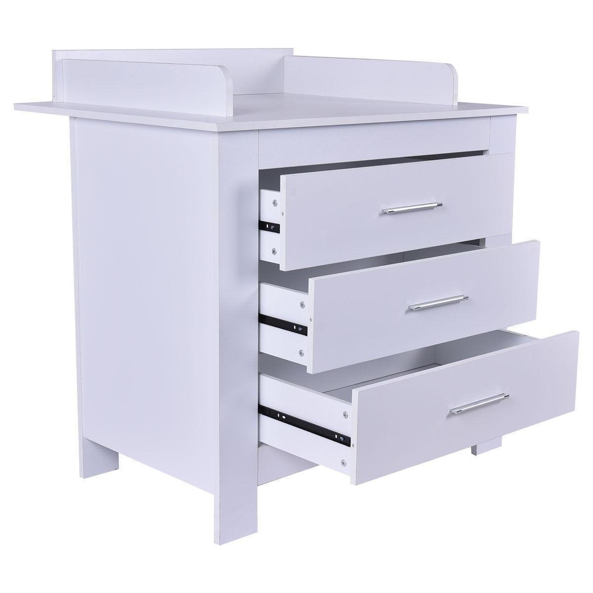 infant baby changing table nursery diaper station dresser storage 3 drawers ebay. Black Bedroom Furniture Sets. Home Design Ideas