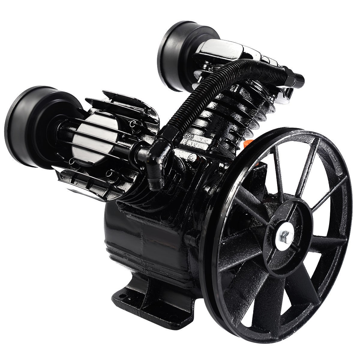 3hp 2 piston v style twin cylinder air compressor pump for Air compressor pump and motor