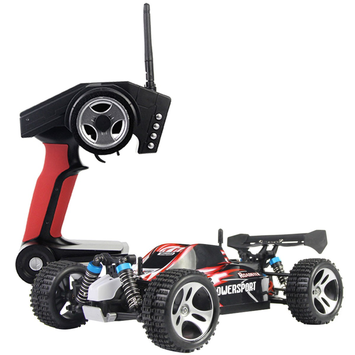 1 18 high speed scale 2 4g 4wd rtr off road buggy rc car remote control red new ebay. Black Bedroom Furniture Sets. Home Design Ideas