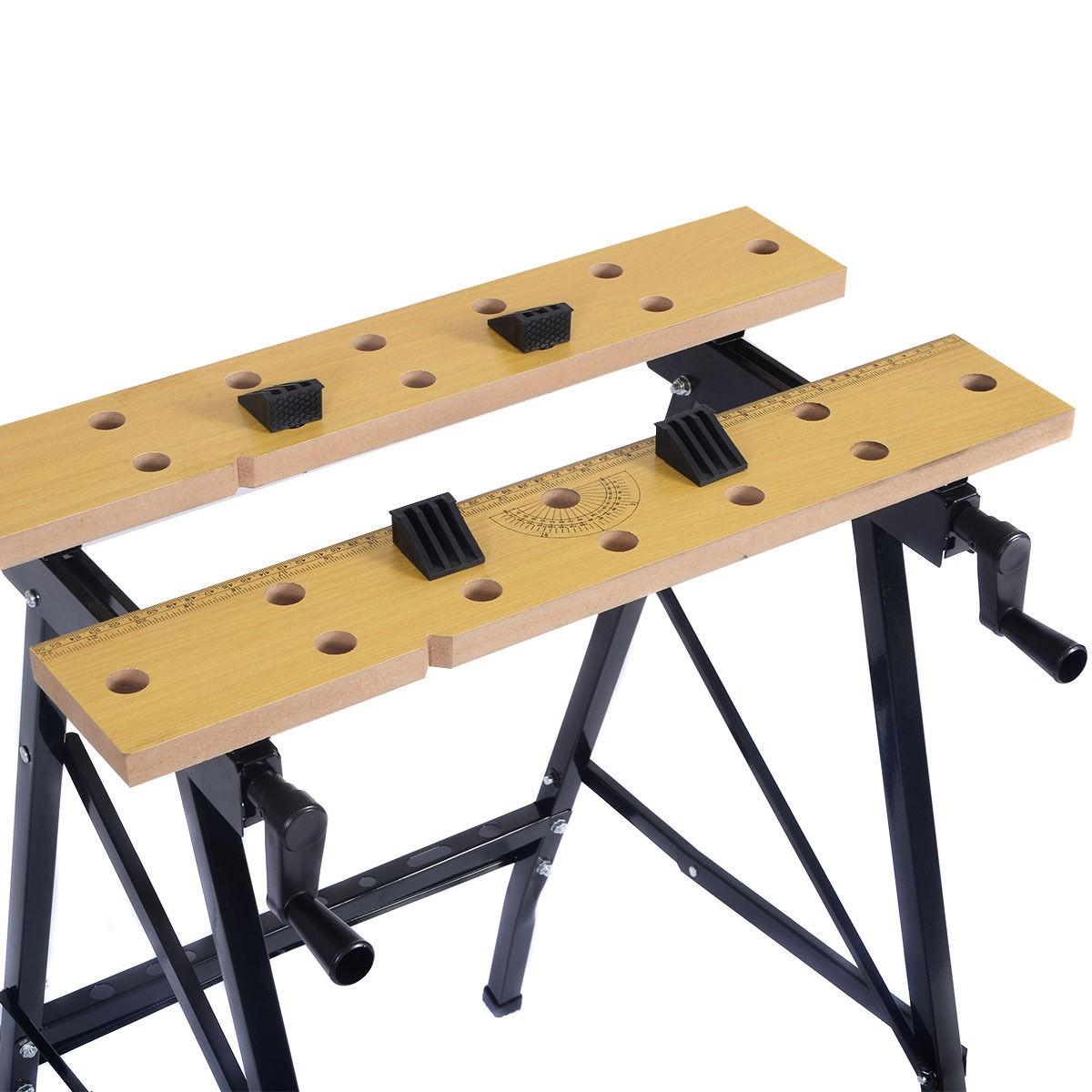 Portable Folding Work Bench Tool Table Garage Repair ...