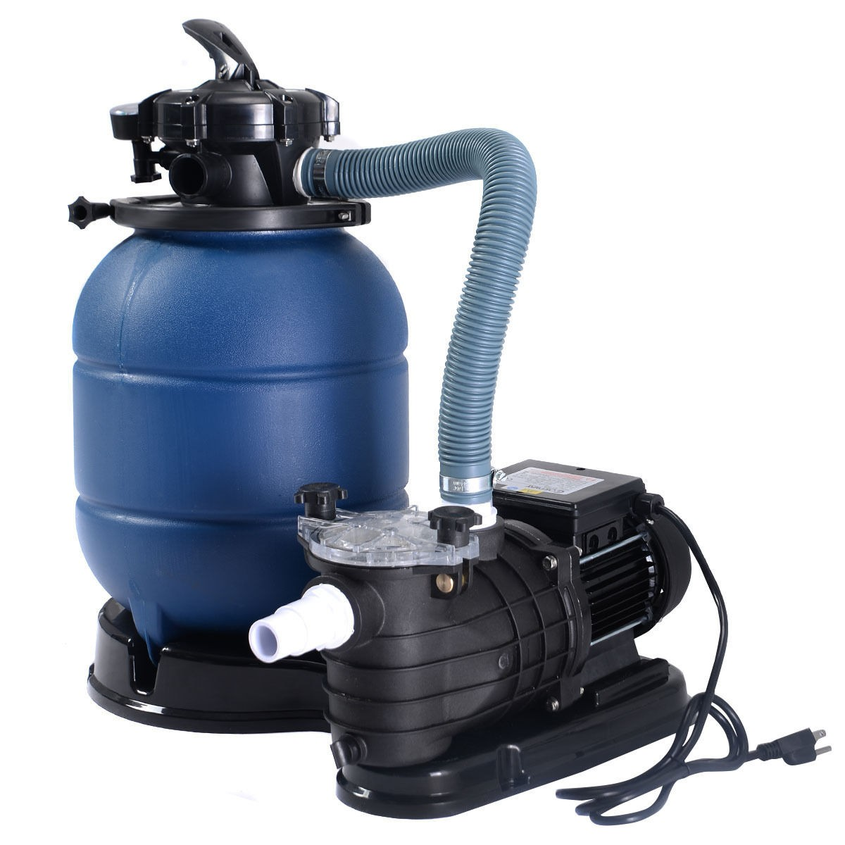 pro 2450gph 13 sand filter above ground 10000gal swimming pool pump us new ebay. Black Bedroom Furniture Sets. Home Design Ideas
