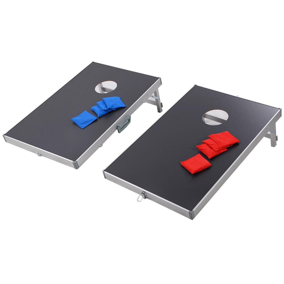 Foldable Bean Bag Toss Cornhole Game Set Boards Tailgate