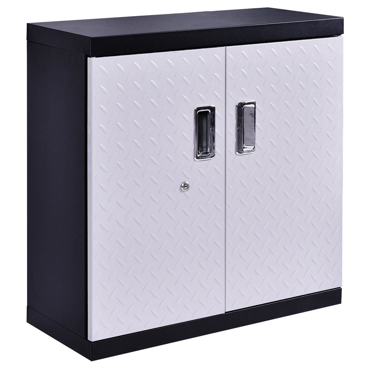 garage steel wall mount cabinet metal storage box. Black Bedroom Furniture Sets. Home Design Ideas