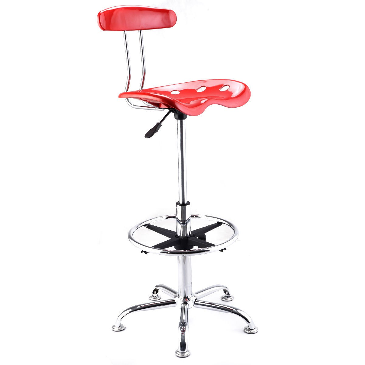 Adjustable Bar Stools Abs Tractor Seat Swivel Chrome