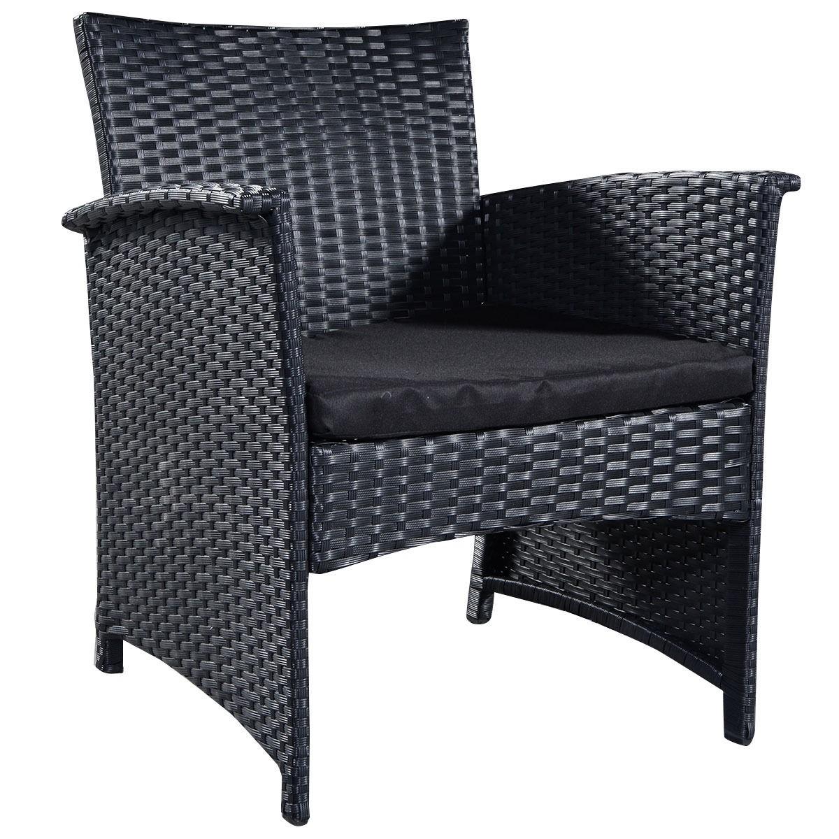 Black Wicker Furniture Outdoor