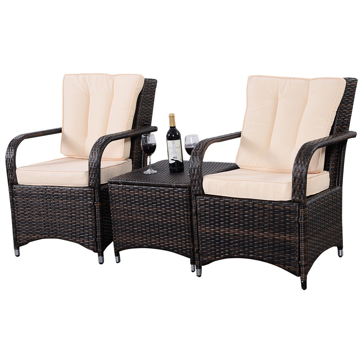 3 qualited patio pe rattan wicker furniture set outdoor for What is wicker furniture