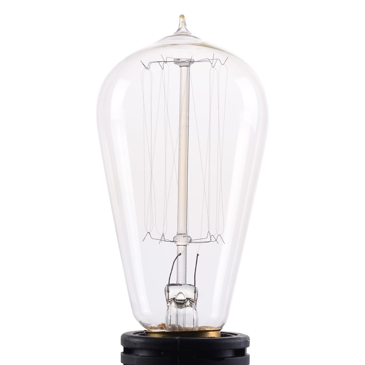 4 pcs 110v 60w squirrel cage filament light bulb vintage. Black Bedroom Furniture Sets. Home Design Ideas