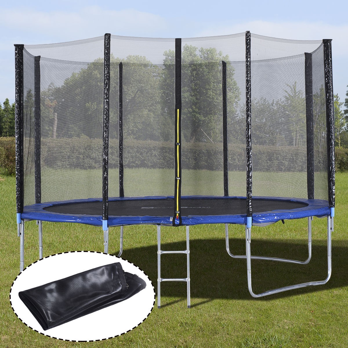 Jumpking Trampoline Ladder Instructions: US 12FT Trampoline Combo Bounce Jump Safety Enclosure Net