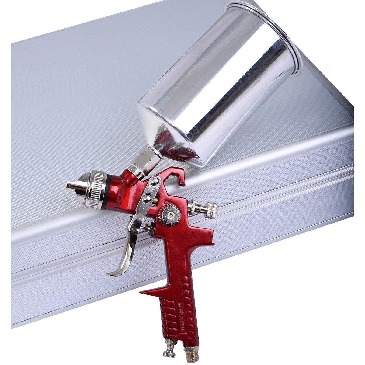 Car Spray Kit Matte: 3 HVLP Air Spray Gun Kit Auto Paint Car Primer Detail