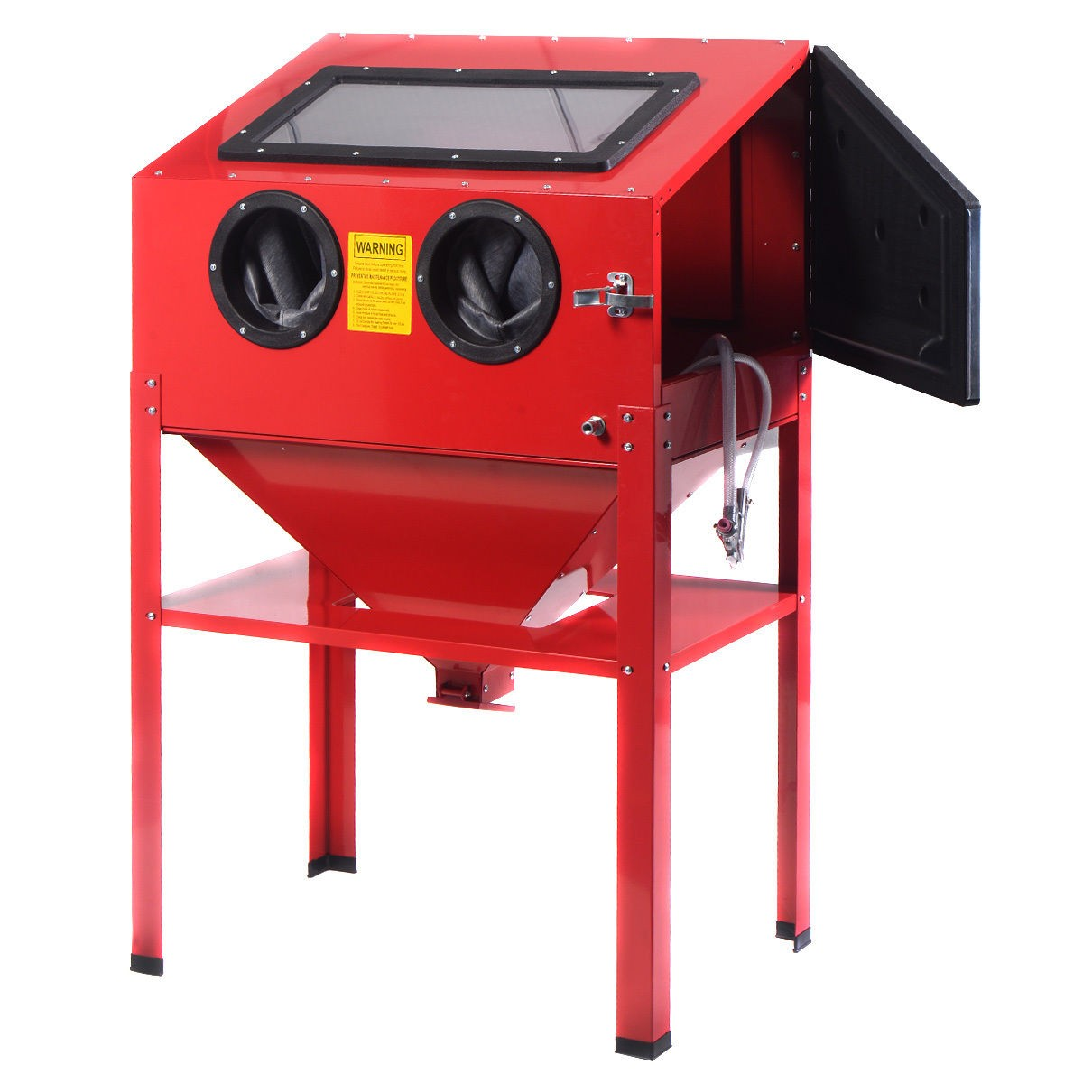 60 Gallon Vertical Sandblast Cabinet 40lb Bottom Feed
