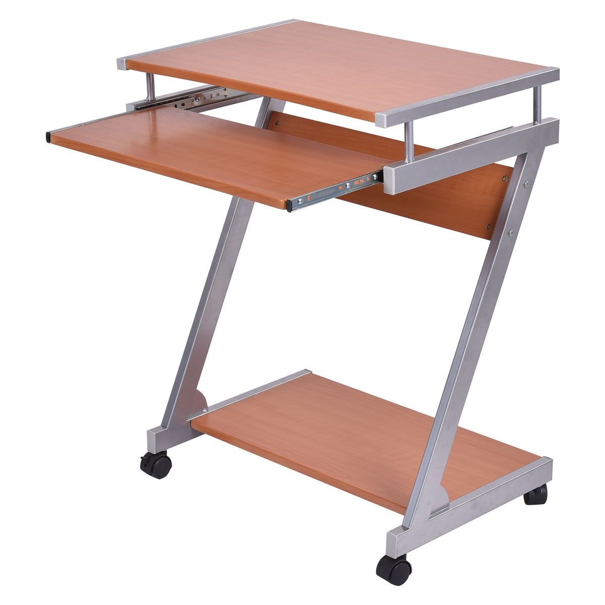 Home Office Portable Rolling Computer Desk Laptop Table