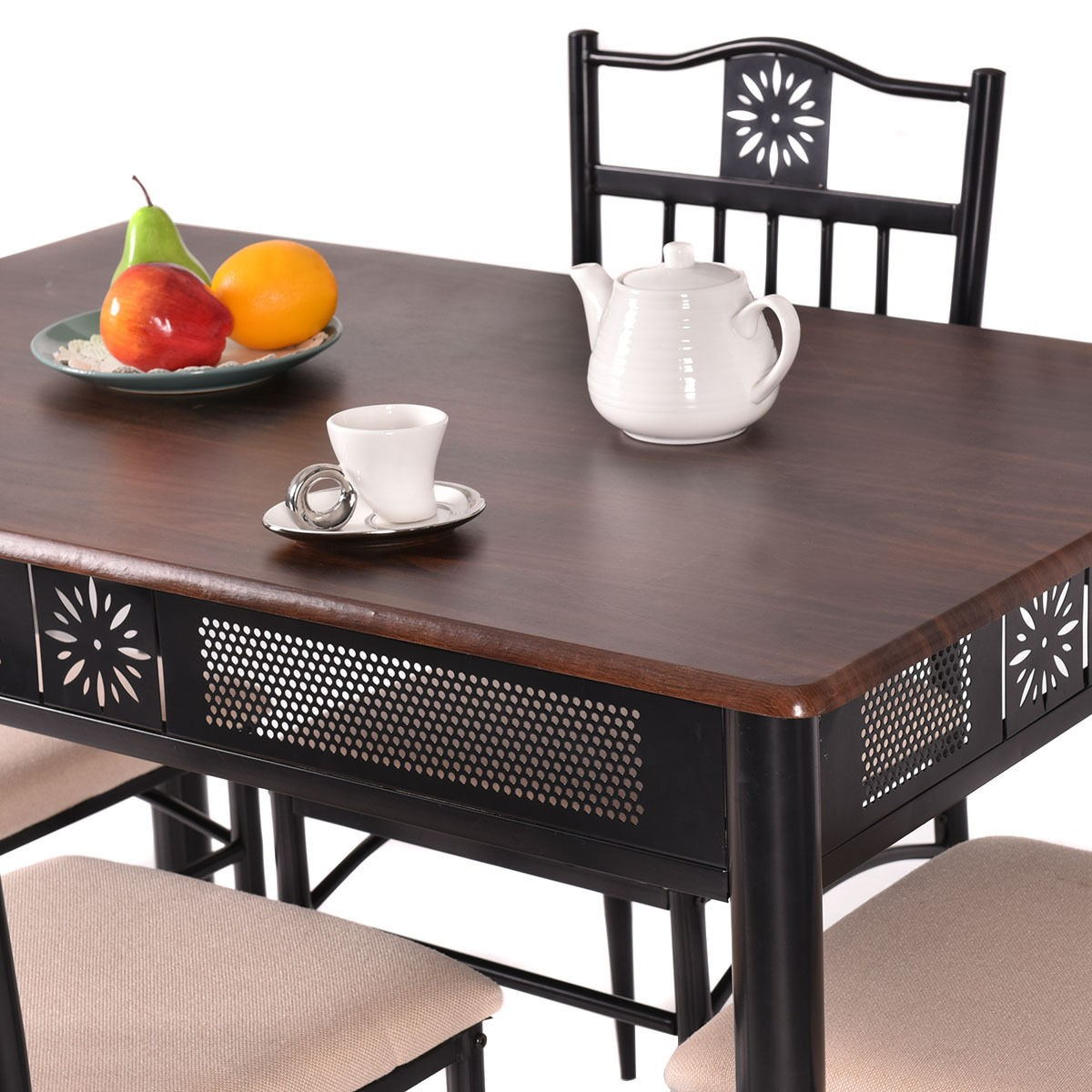 metal dining table and 4 chairs