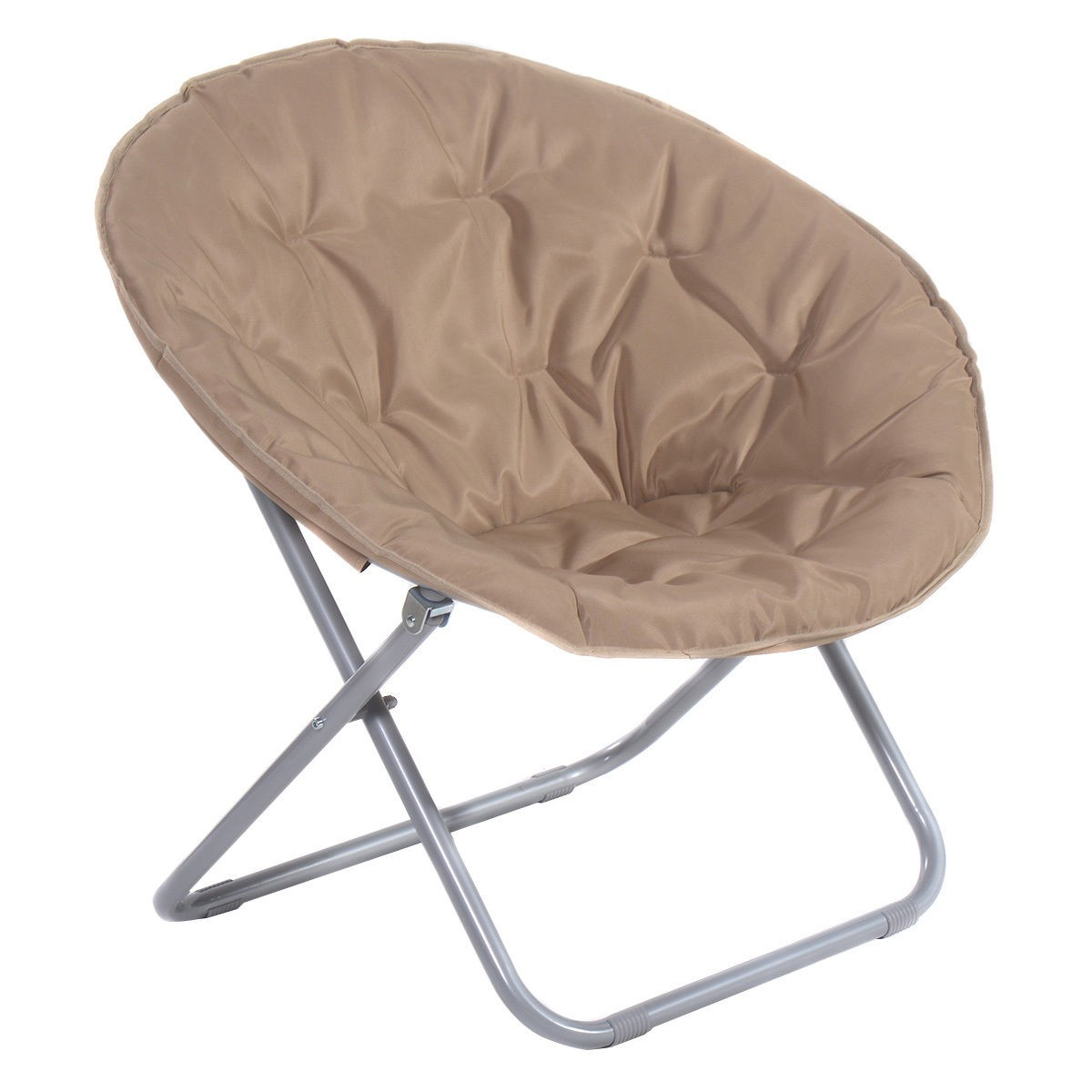 Large folding saucer moon chair den tv living room round for Big round chair