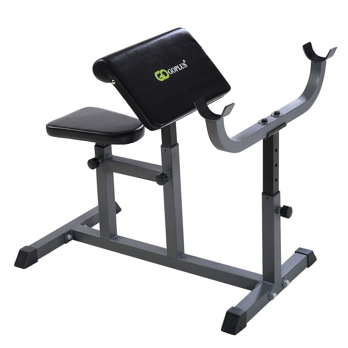 Adjustable Commercial Preacher Arm Curl Weight Bench Seat Dumbbell Biceps Ebay