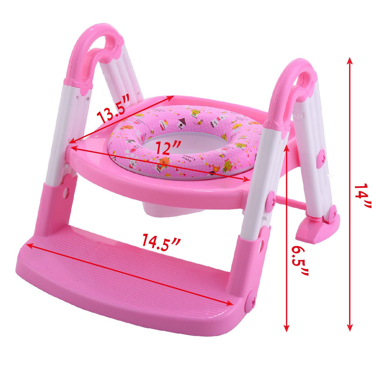 3 In 1 Fold Baby Potty Training Toilet Chair Seat Step