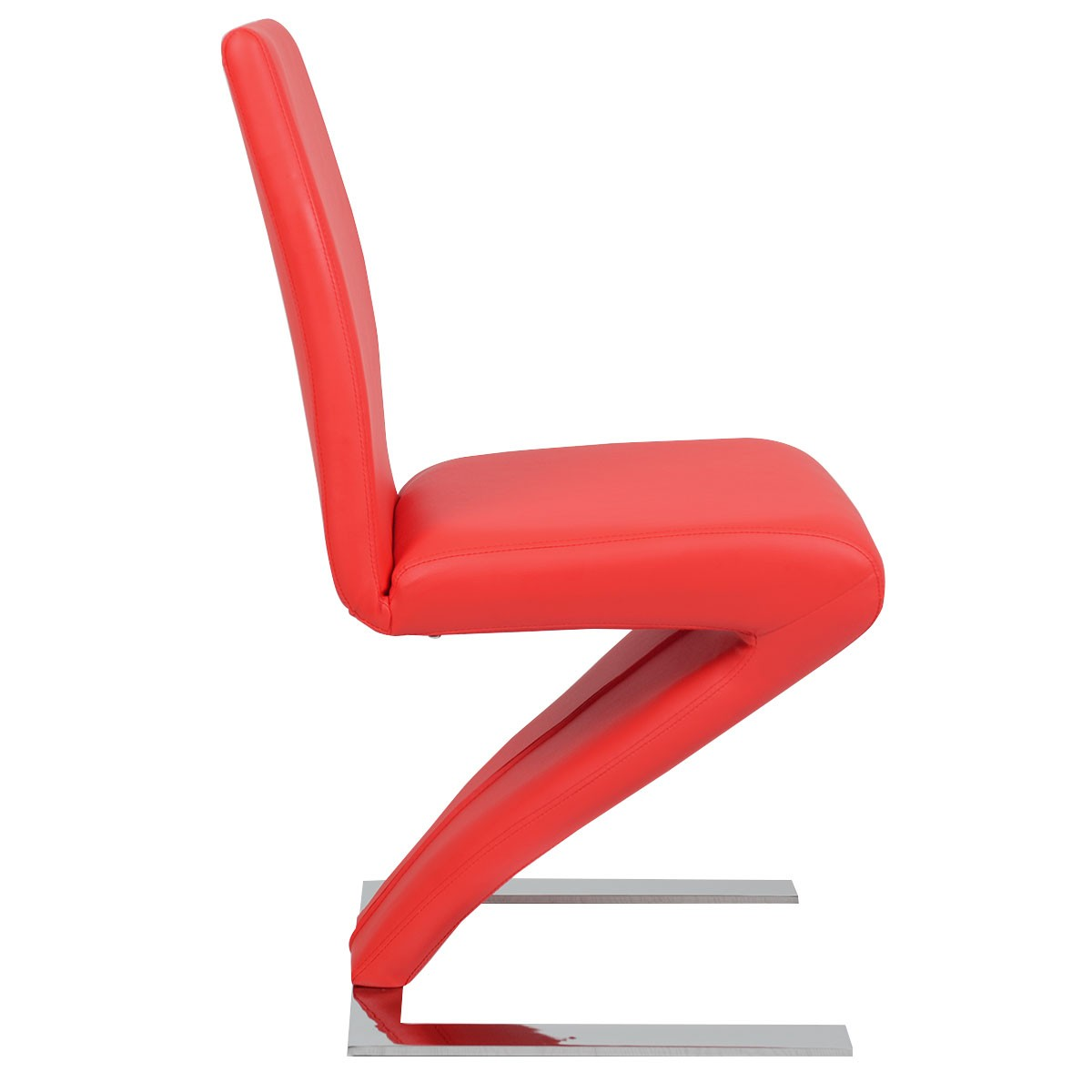 Shaped Chairs: High Back PU Leather Dining Chair Z Shaped Zigzag Home