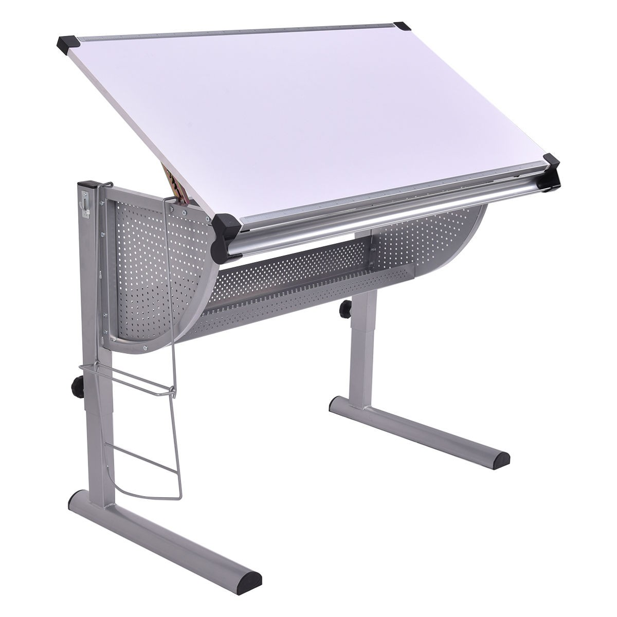 Drafting table drawing desk adjustable art craft hobby for Table cuisine 110 x 80