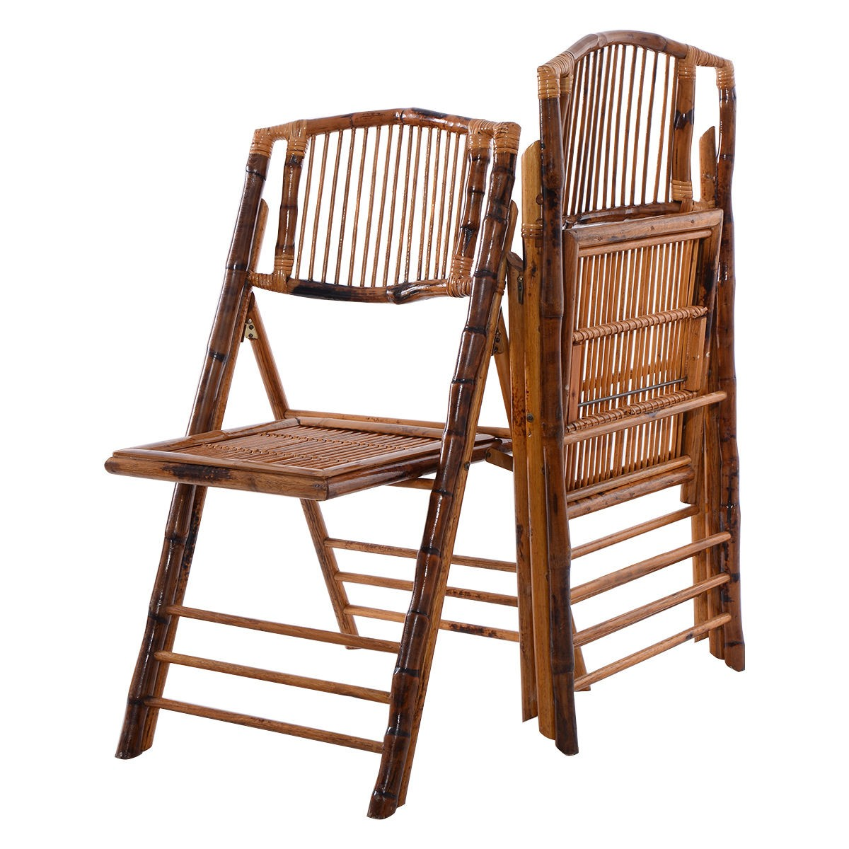 Bamboo Outdoor Chairs: New Bamboo Folding Chairs Patio Garden Wedding Party