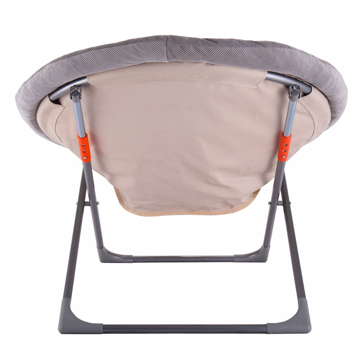Oversized Folding Saucer Moon Chair Corduroy Round Seat Living Room US